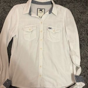 Gilly Hicks White Button Down Shirt